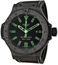 Hublot Big Bang All Black Green Mens Watch Limited Edition 322CI11