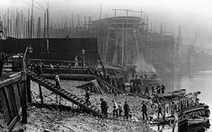 Thames Shipbuilding Yard c1910, London