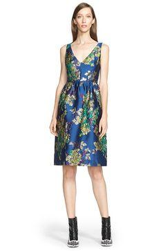 Erdem V-Neck Floral Jacquard Dress available at #Nordstrom