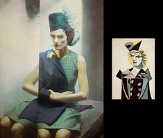 Eugenio Recuenco, art, photography, fan art, homages, Pablo Picasso, Homage-to-Picasso Fashion Story