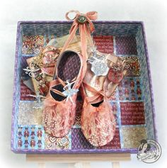 Love this piece of art by @Alberto Juarez Diaz! He turned our 8x8 matchbook box into a magical ballerina wonderland! On this blog, there is also a downloadable pattern for those glorious ballet shoes! #graphic45 #DIY
