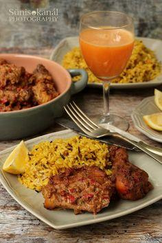 Sünis kanál: Indiai ihletésű serpenyős csirkecomb currys rizzse... Beef, Chicken, Food, Meals, Yemek, Steak, Cubs, Eten