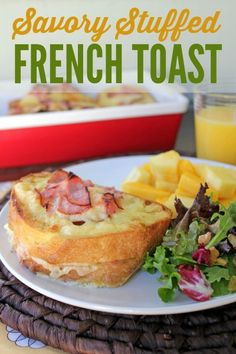 Stuffed Baked French Toast recipe -- Perfect for brunch. Can be made the night before!