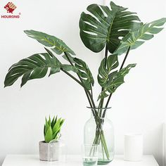12Pcs ARTIFICIAL Monstera BRANCH TREE SPRAY FAKE TURTLE LEAVES PLANT FAUX Leaf | Home, Furniture & DIY, Home Decor, Dried & Artificial Flowers | eBay!