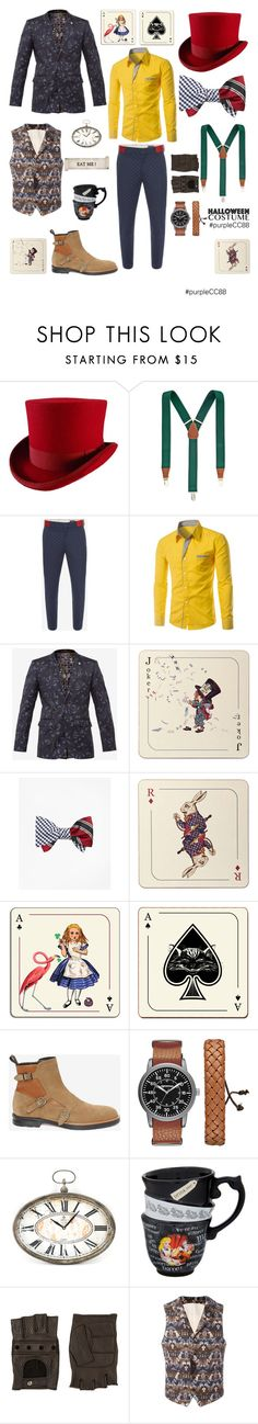 """In Wonderland"" by purplecc88criss on Polyvore featuring Club Room, Alexander McQueen, Ted Baker, Avenida Home, Brooks Brothers, Arizona, Zentique, Disney, Ermenegildo Zegna and Al Duca d'Aosta"