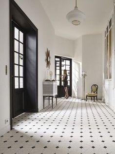 Hier finden Sie die folgenden Informationen: # # & - Home Decoration Entry Tile, Tiled Hallway, Hall Tiles, Dalle Pvc, Hallway Flooring, Tile Flooring, Hallway Inspiration, Hallway Designs, Farmhouse Remodel