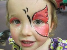 butterfly face paint by woo who