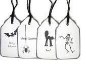 halloween gift tag, halloween favor, decoration, label, hang tag