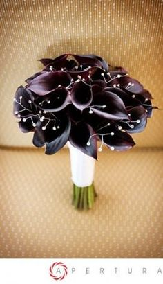 Calla lily bouquet with petite rhinestone sprays.