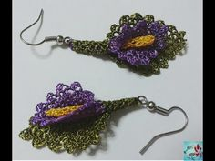 How to make jewelry accessories by hand? * (AS EARRINGS) * (DIY) *** The most beautiful handmade jewelry. Diy Earrings Dangle, Diy Earrings Easy, How To Make Earrings, Crochet Earrings, Gold Earrings, How To Clean Diamonds, Tatting, Jewelry Insurance, Form Crochet