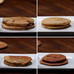 Nutritious Pancakes 4 Ways Desserts Pancakes, Food, Food recipes brownies 4 ways tasty - Brownie Breakfast Recipes, Dessert Recipes, Pancake Recipes, Good Breakfast Ideas, Breakfast Ideas For Toddlers, Pancakes Recipe Video, Fast Healthy Breakfast, Diet Breakfast, Tasty Videos