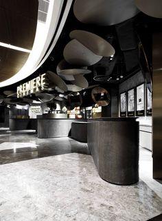 HANGZHOU KERRY CENTRE PREMIERE CINEMAS designed by One Plus Partnership Limited #BestCinemaDesign  Best Cinema Design