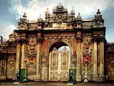 Dolmabahce Palace Istanbul Palace Gates.  It is magnificent, a tour for my Birthday many years ago. Loved it.