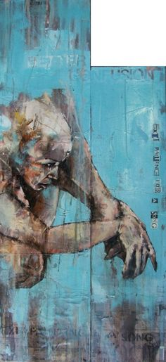 'BETTER CONFUSION' by Guy Denning Portraits, Portrait Art, Sketchbook Inspiration, Art Sketchbook, Figure Painting, Painting & Drawing, Best Street Art, A Level Art, Human Art