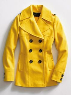 i'm dying for a mustard colored pea coat.