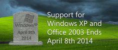 Encerramento do suporte ao Windows XP e Office 2003