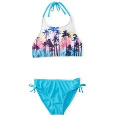 Aeropostale Kids' Tropics Bikini Set (32 CAD) ❤ liked on Polyvore featuring swimwear, bikinis and aéropostale