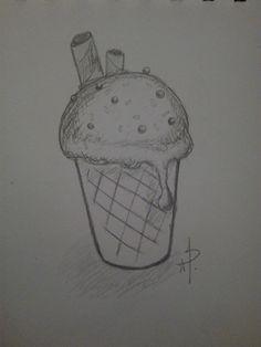 Ice Cream, Drawings, Art, No Churn Ice Cream, Art Background, Icecream Craft, Kunst, Sketches, Performing Arts