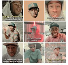 Many faces, of Tyler, the Creator