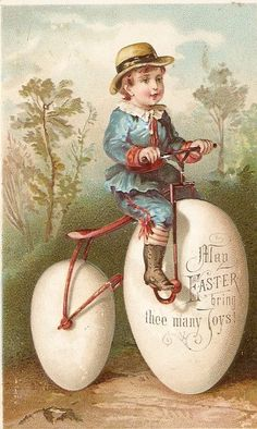 *1880's gorgeous Easter card