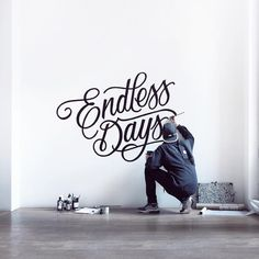 """1,063 Likes, 16 Comments - Benoit Berger (@saywhatstudio) on Instagram: """"Endless days! Practicing big lettering on a wall at the workshop for an upcoming project!…"""""""