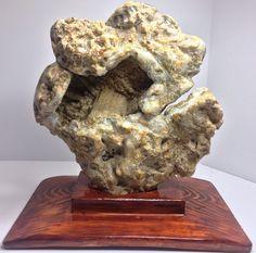Geoda amonite ... escultura sobre minerales con base de madera di Alkemyartek su Etsy