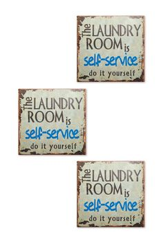 Laundry Room Wall Decor - Set of 3