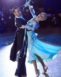 Light blue ballroom dance dress #ballroom #dancesport #dance