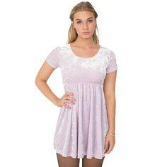 American Apparel Stretch Velvet Pink Babydoll Dress