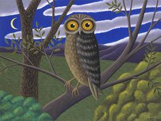 The Owl by Jane Troup: Giclée Print available at www.artfulhome.com