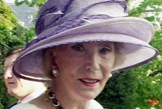 This May 12, 2004 photo shows German socialite Viola Drath during the annual Woodrow Wilson home garden party and hat contest in Washington. Opening statements are expected in the trial of a German man charged with murdering Drath, his 91-year-old wife, a journalist and socialite. Albrecht Muth is charged with first-degree murder in the August 2011 beating and strangulation death of Viola Drath. Police say the killing took place inside the couple's home in Washington's posh Georgetown…