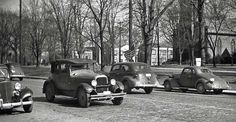 three of four Chevrolets and a mid-to-late 1920s Studebaker