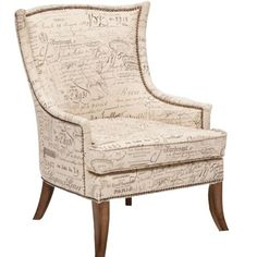 Sanctuary Paris Accent Chair - eclectic - chairs - houston - High Fashion Home Eclectic Chairs, Contemporary Couches, Hooker Furniture, Furniture Chairs, Furniture Refinishing, French Chairs, High Fashion Home, Take A Seat, Chair Fabric