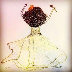 """""""Vamos sair um pouco pra dançar, vamos a ver a vida, sobre outras curvas, outros aspectos, sem muita loucura Te conheço já há tanto tempo, não quero te ver mal mas um momento é apenas um momento, vamos sair, vamos sair, vamos sair..."""" #segueosom #vanessadamata #illustration #drawing #beautiful #inspiration #creative #art #artdaily  #sketch #artwork #love #dancing #sketchingtime #emotion #vivaaarte #ilustracao #song #show #singer #movement #dance #fun #joy #music #irisscuccatoilustracao"""