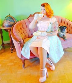 """Vintagestyle Seamstress on Instagram: """"Tea anyone? 🍵  I am very happy with this colour combo. The dress turned out better than expected! 👗✂️ • ✂️Handmade by @gorgeouslyvintage…"""" Colour Combo, Color, Dressmaking, Tea, Disney Princess, Happy, Handmade, Vintage, Instagram"""