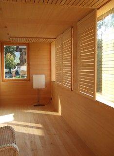 sunspace 2.jpg  Cukrowicz Nachbauer, architect Love the tip up shutters