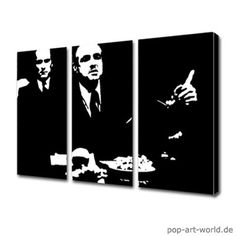 Der Klassiker. Pop Art Style... Gemälde!  http://www.pop-art-world.de/der_pate_the_godfather.html
