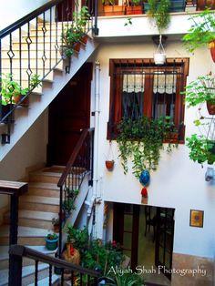 Lodge Istanbul Stairs Plants Lodge Vintage Windows Atrium