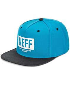 Head out for weekend adventures with full-throttle style thanks to Neff's New World Cap, featuring a cool logo graphic at the front and a snapback closure for comfort. | Cotton/polyester | Spot clean