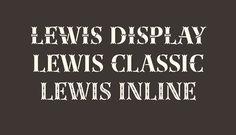 Lewis typeface by Thierry Fétiveau