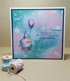 Card made using Tim Holtz Mini Crazy Birds and dies
