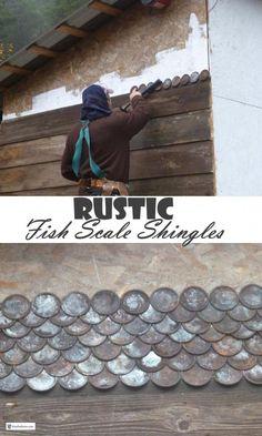 Metal Siding, Metal Roof, Rustic Crafts, Rustic Farmhouse Decor, Cabin Design, Rustic Design, Cedar Shed, Rustic Shed, Off Grid House