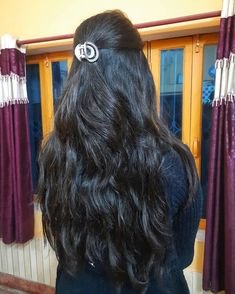 Indian Long Hair Braid, Long Hair Ponytail, Braids For Long Hair, Pony Hair, Long Black Hair, Long Wavy Hair, Thick Hair, Open Hairstyles, Indian Hairstyles
