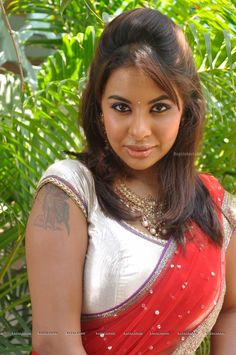 Srilekha Reddy in Red Saree (110 Photos) - Image 7