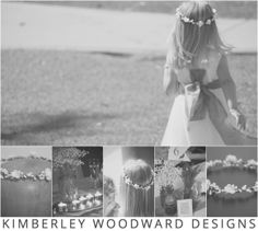 A stunning custom-made KIMBERLEY WOODWARD DESIGNS flower crown was featured at a gorgeous wedding over the weekend on the most beautiful flower girl! The flower crown featured beautiful silk flowers that were hand made using vintage flower making tools, and finished off with the perfect pearl centre.  KIMBERLEY WOODWARD DESIGNS