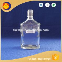 China manufacturer custom unique tall narrow mouth mexico spirit glass empty bottles provide different lids