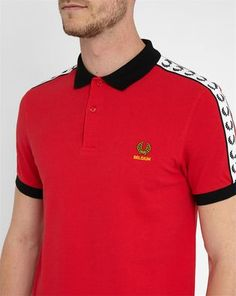 Poloshirt Belgien in Rot FRED PERRY