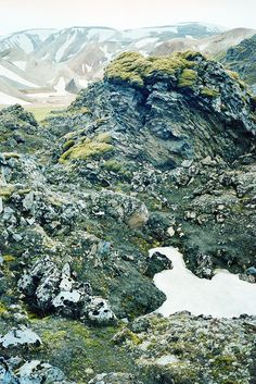 Looks like the shades of green and grey I seek when working on my metal jewelry | Landmannalaugar is a region near the volcano Hekla in the southern part of Iceland's highlands.