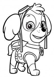 Kolorowanka Z Bajki Psi Patrol