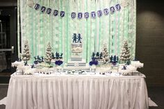 Ice Skating  Birthday Party Ideas |Love the backgrd idea